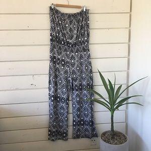 Pants - Aztec Print Jumpsuit